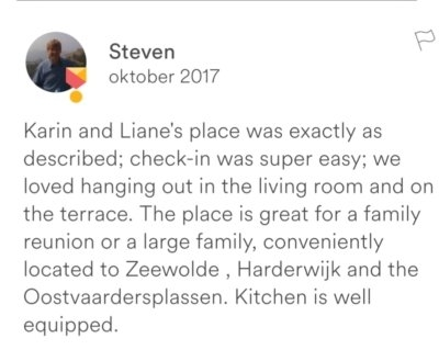 Recensie Airbnb manager Service het Gooi | House sit