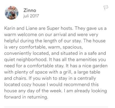 Recensie Airbnb uitbesteden Zeewolde
