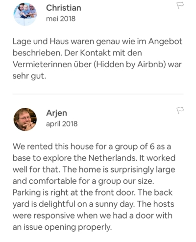 Recensie Airbnb Host Service het Gooi.