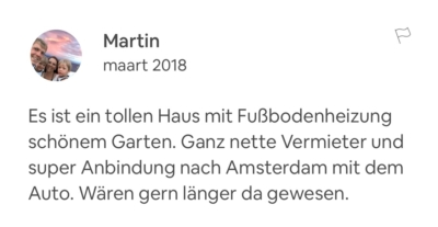 Recensie Airbnb manager Service het Gooi | House sit service